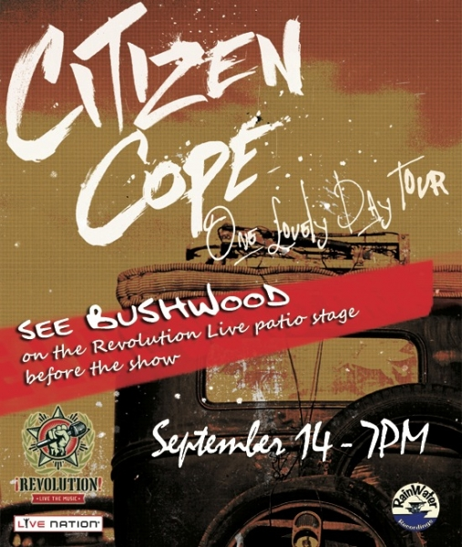 Citizen Cope Revolution Fort Lauderdale