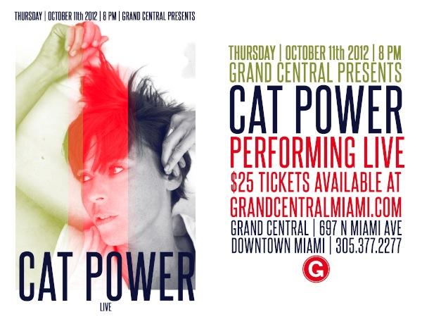 Cat Power Grand Central Miami