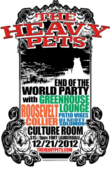 Heavy Pets End of the world party culture room