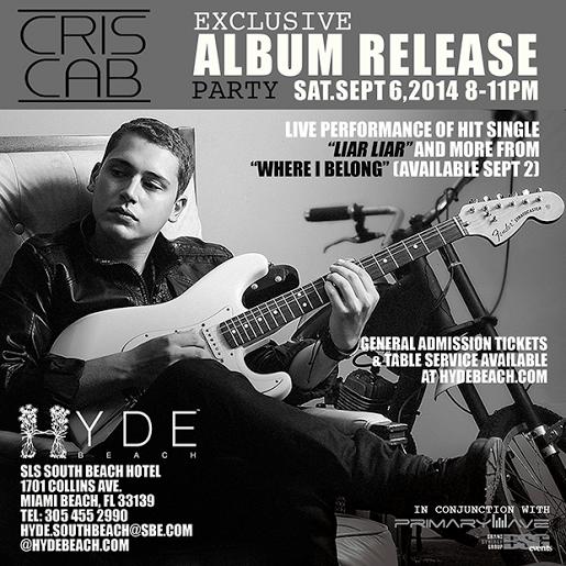 Cris Cab Album Release Invite