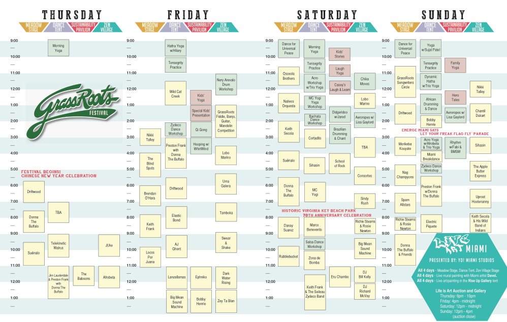 Grassroots fest schedule virginia key